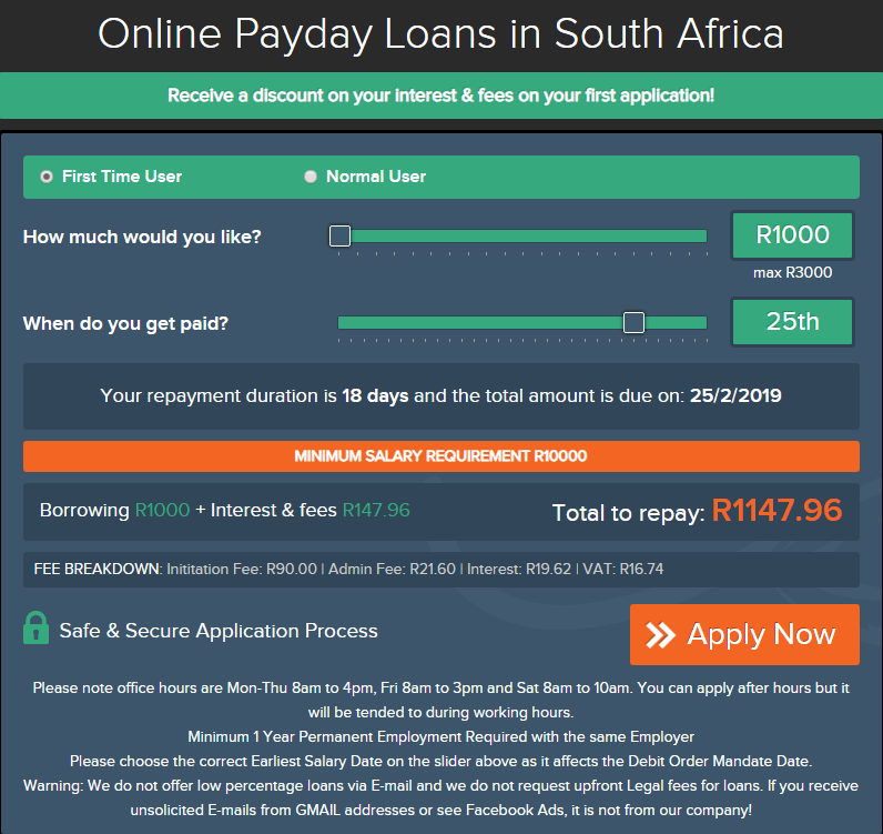 Express Finance — Payday Loans in South Africa